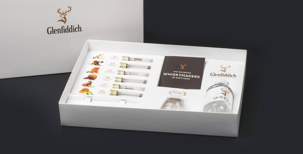 Glenfiddich Distillery Tour theater verpakking